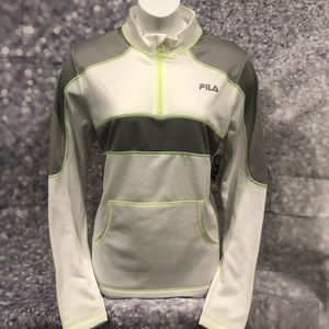 NWT FILA Sport Performance 1/4 zip Track Jacket XL